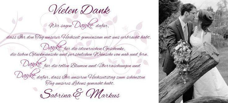 Danksagungskarten - ♥ Danksagung Hochzeit Fotokarte glänzend ♥ - ein Designerstück von marion-designisch bei DaWanda