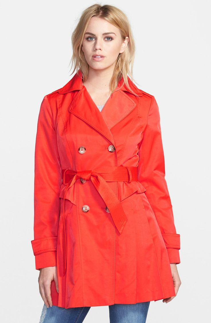 GUESS Double Breasted Skirted Trench Coat $210 on sale for $105