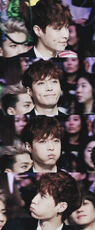 How to look adorable as hell to kill fangirls in four frames: by Zhang Yixing.