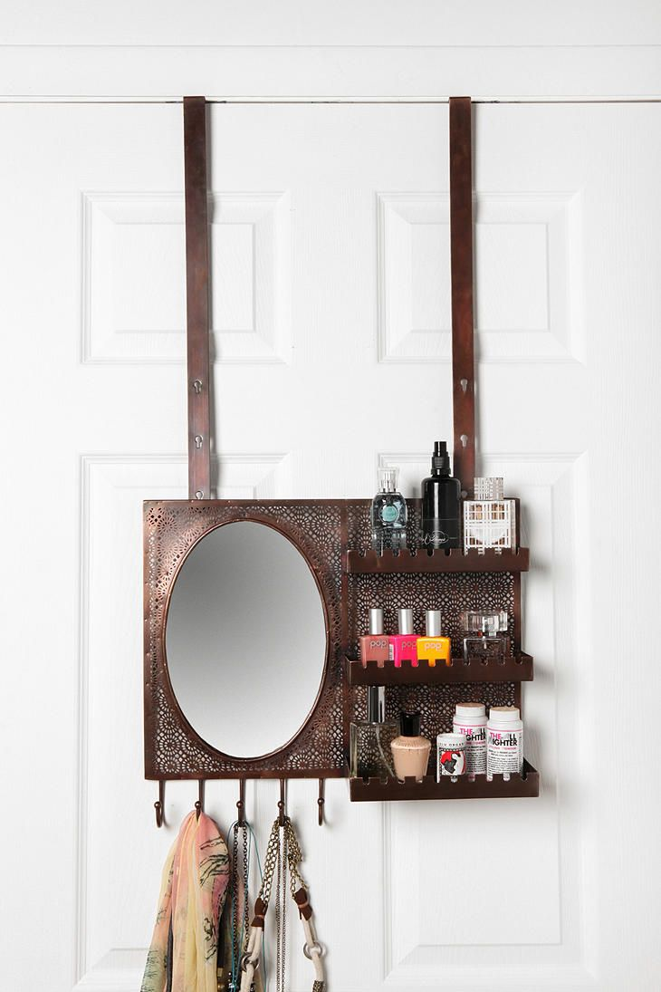 Over-the-Door Vanity Station could be so useful on the inside of my closet door when the hubby is hogging the sink...