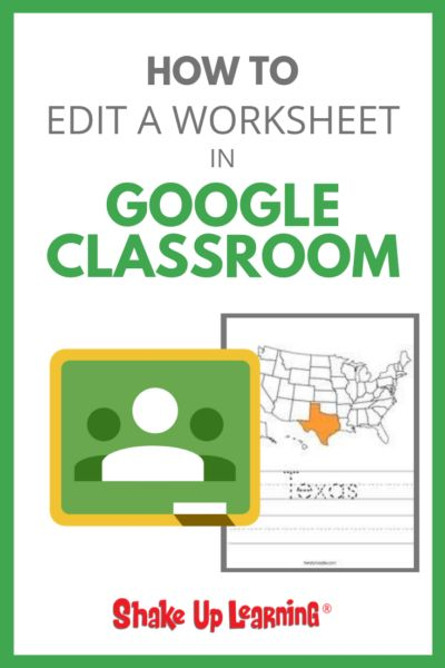 Stop Asking How to Put a Worksheet in Google Classroom – SULS018