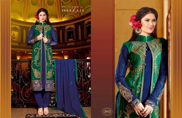 This Indian party wear suit dress is the most Classic and Ethinic designs are delicate over quality fabrics that enthuses once you buy you indulge into an inseparable journeyof fabric that never fades out of the style horizon.