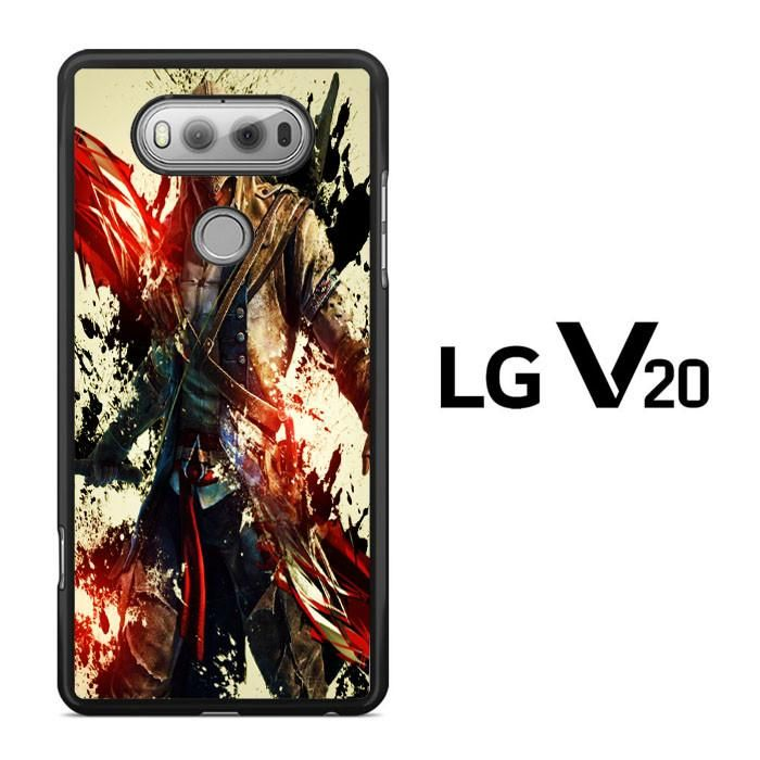 Assassin's Creed 3 Paint Splat Red Black LG V20 Case Dewantary