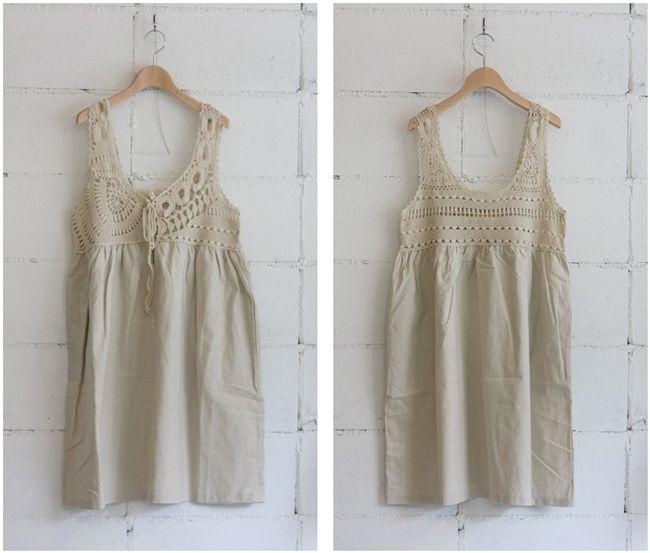 Cute crocheted yoke on this dress