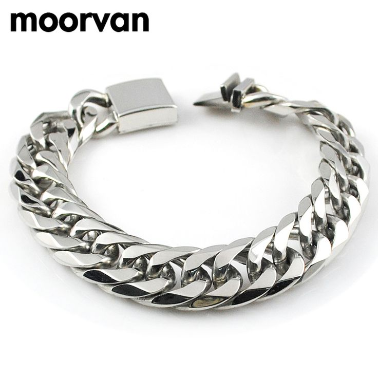 sale item for man bracelet 22cm 16mm cool Mens Bracelets,his gift,stainless steel cut link chain,2016 accessory V718