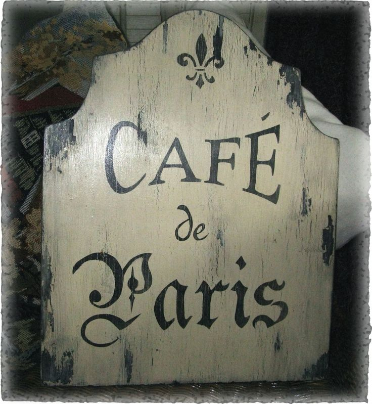 Vintage French Decor | ... Sign French Country Paris Cottage Chic Shabby Vintage Style Signs