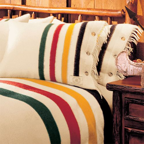 Originally used as trade for pelts in the colonies, Hudson Bay blankets are known for their durability and warmth. The point system enables determination of measurement of the blankets without unfoldi