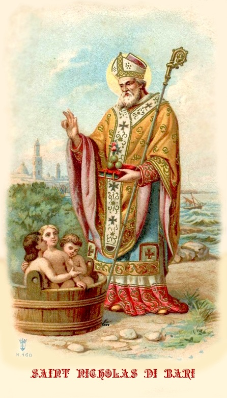 Saint Nicholas feast day December 6th.  Card for available for personal use only.