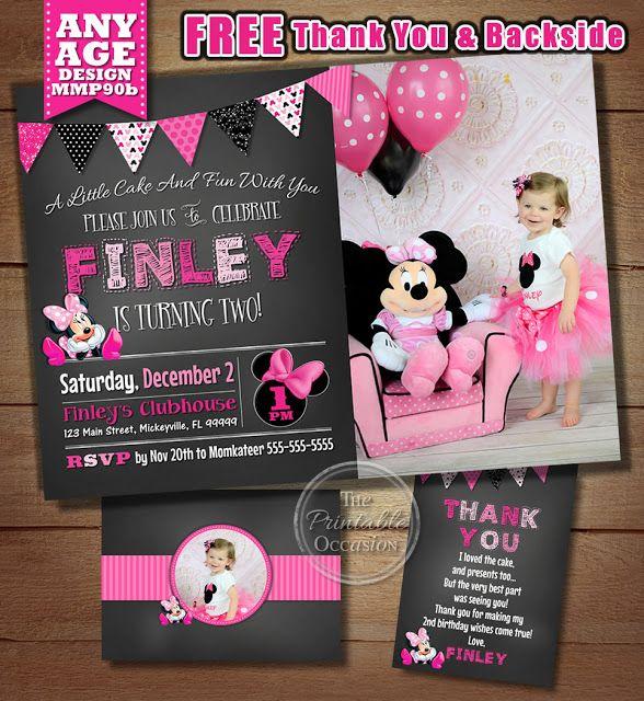 Best Chalkboard Minnie Mouse Birthday Party Ideas  Minnie