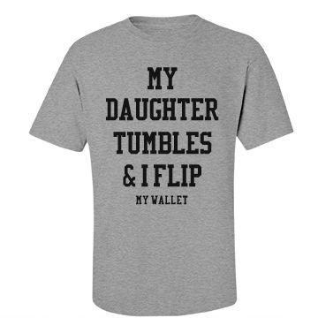 Funny Gymnastics Dad Humor Shirts | The life of a gymnastics dad. Your daughter…