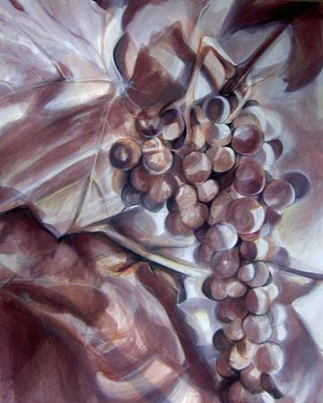 Bacchus - Painting with wine as a medium- by Christina LoCascio