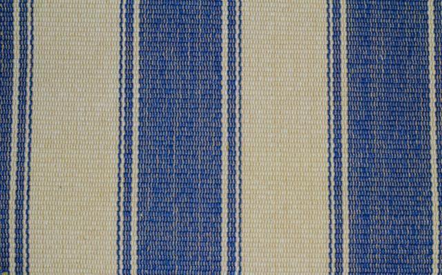 Blue And Tan Striped Carpet Remnant 2 2 Quot X6 8 Quot Nautical