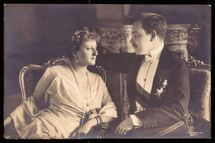 Royal Engagement Photo of exiled King Manuel of Portugal, and Augusta Victoria, a princess of Hohenzollern-Sigmaringen.  The marriage proved to be placid, and produced no children.