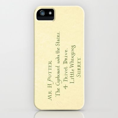 Um...yes please.    Mr. Harry James Potter - Hogwarts Invitation/Letter iPhone Case by Ashleigh - $35.00