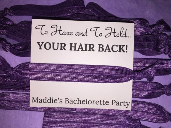 Bachelorette Party Favors / To Have and To Hold Your Hair Back