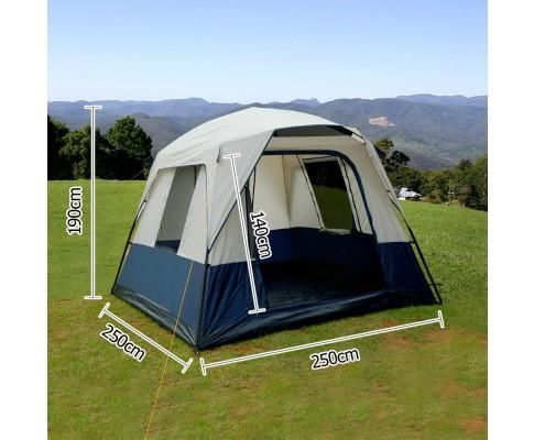 4 Man Family Camping Tent  (navy/Grey)  *FREE SHIPPING IN AUS