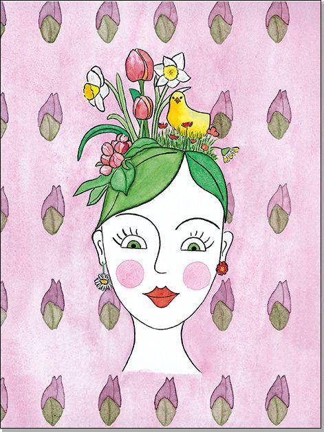 Frühling A4 - Aquarell
