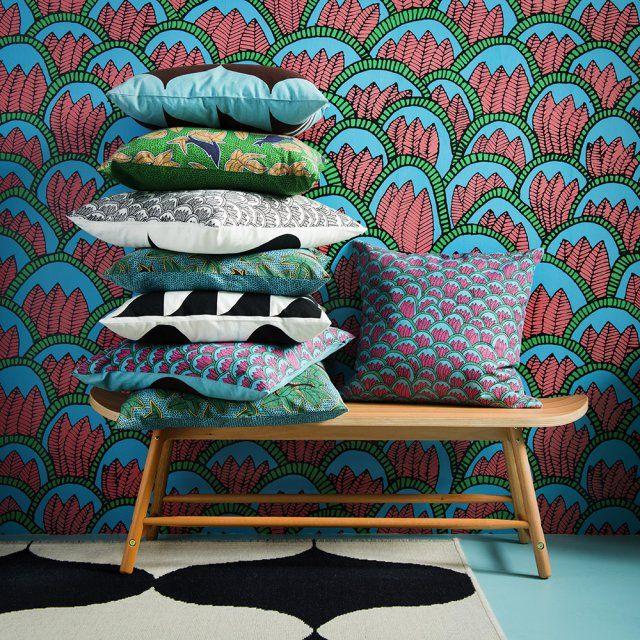 357 best images about coussins et plaids cushions on pinterest hay design - Ikea rideaux velours ...