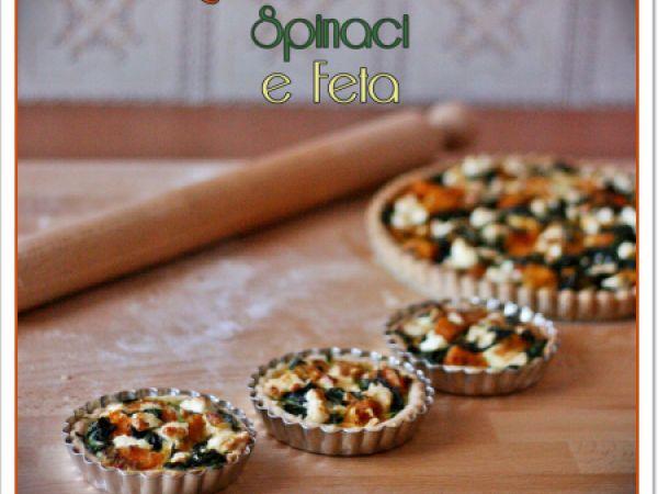 Quiche di zucca, feta e spinaci