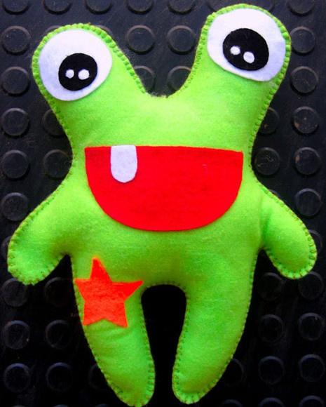 Toy art de feltro feito a mão