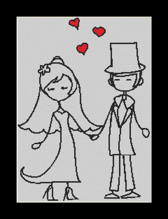 Wedding Day wedding Cross Stitch Download pdf by Lovethythreads, £4.00