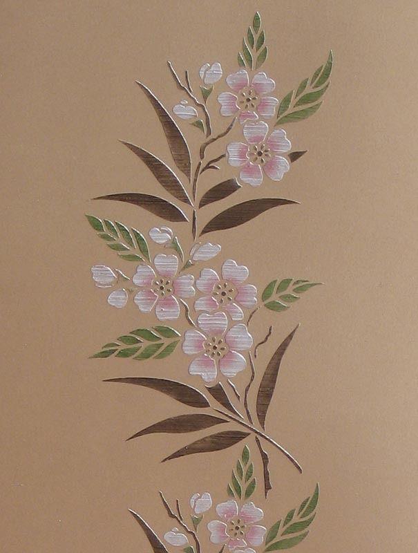 Cherry Blossom Flower Stencil: Cherry Blossom Border Stencil
