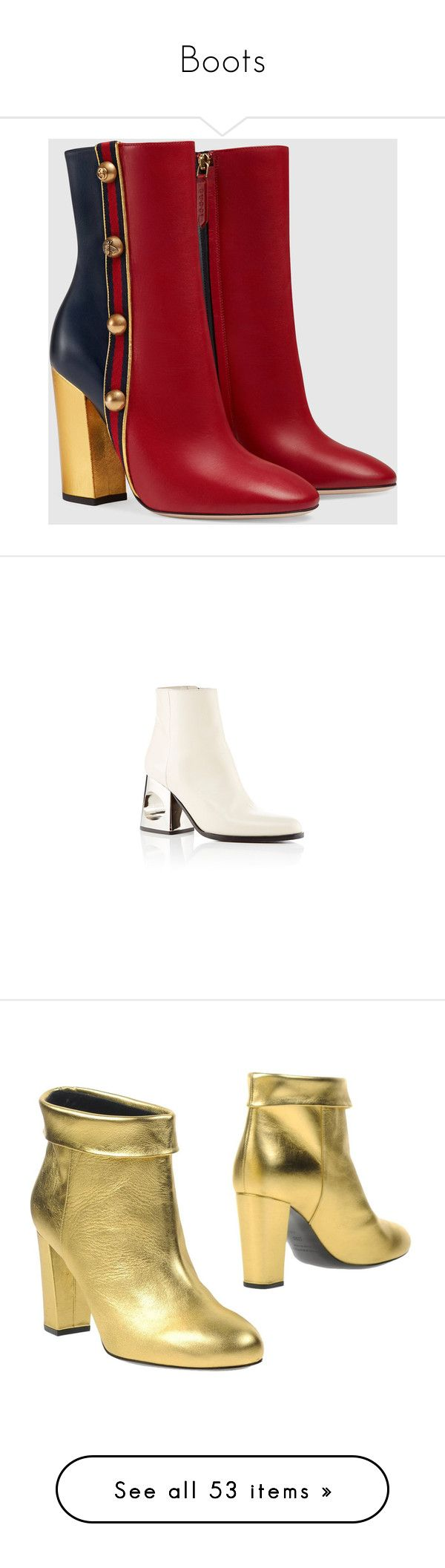 """""""Boots"""" by tynabrookler ❤ liked on Polyvore featuring shoes, boots, ankle booties, leather ankle boots, metallic ankle boots, bootie boots, gucci booties, zipper ankle boots, marni boots and short boots"""