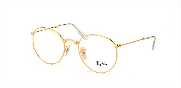 Gafas redondas metalizadas de estilo retro modelo Round Folding, disponible en oro y Gummetal, de Ray-Ban