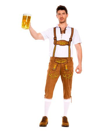 Another great find on #zulily! Brown Lederhosen Costume Set - Men's Regular #zulilyfinds