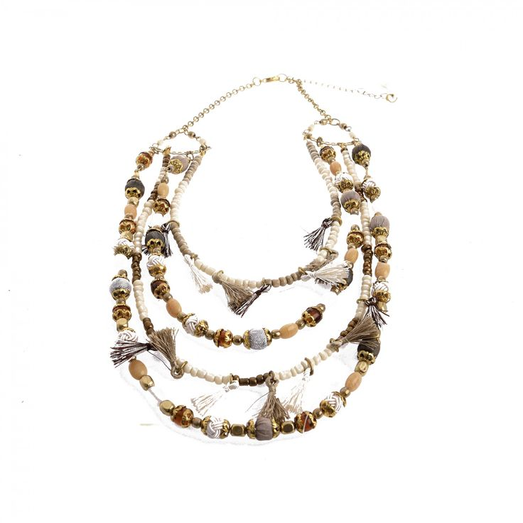NECKLACE W/ TASSELS & BEADS - Necklaces - Jewellery - Accessories