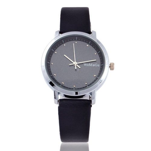 Fashion-Classic-Design-Quartz-Lady-Fashion-Wrist-Watch-Women-Leather-Dial-Black