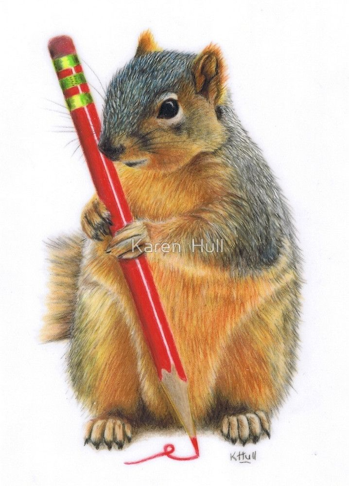 The Artiste by Karen Hull/colored pencil