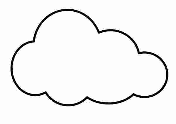 Cloud Shapes Coloring Pages Shape Coloring Pages Coloring Pages Cloud Shapes