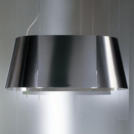 Elica TANDEM Ceiling Mounted 90cm Island Cooker Hood Stainless Steel | Appliances Direct