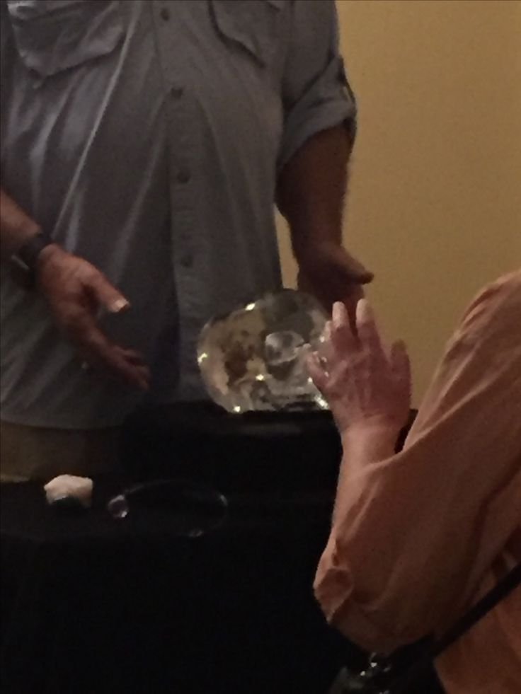 The Mitchell-Hedges crystal skull in person.