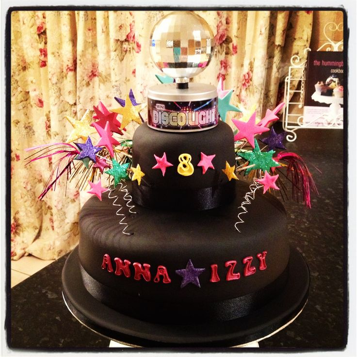 Disco Cake For A Disco Theme Birthday Party Rotating