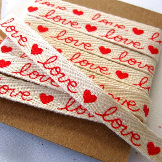 Love and Hearts Sewing Ribbon/Tape. I have bought 3 yards of this from Etsy. Some more should be loaded soon.