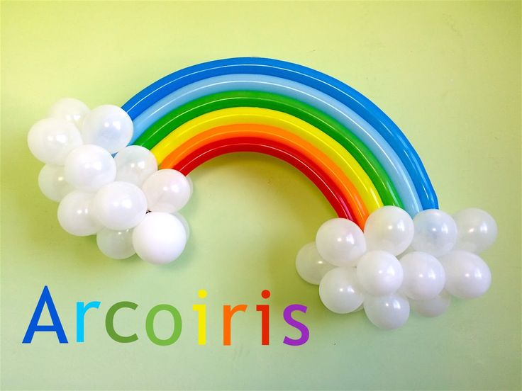 como hacer un arcoiris con globos para my little pony