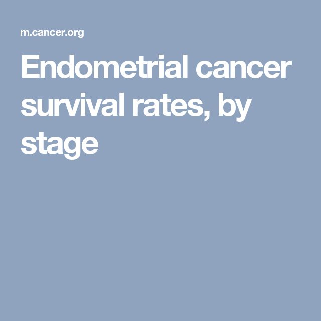 Endometrial cancer survival rates, by stage