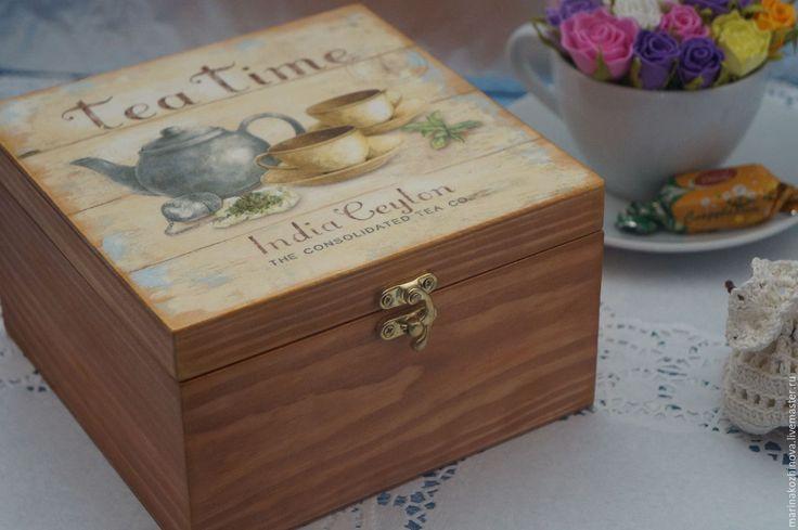 Купить Шкатулочка для чая, шкатулка, короб для хранения))) - шкатулка, шкатулка деревянная, шкатулка для чая