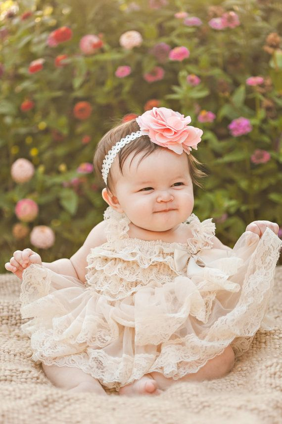Lace Dress for infants and toddlers-  Rustic - Country Flower Girl - Lace Dress - Ivory Lace dress -
