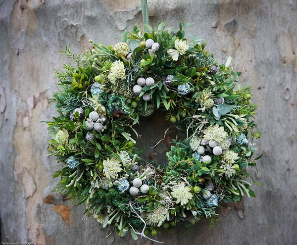 a gorgeous greenery-filled wreath.