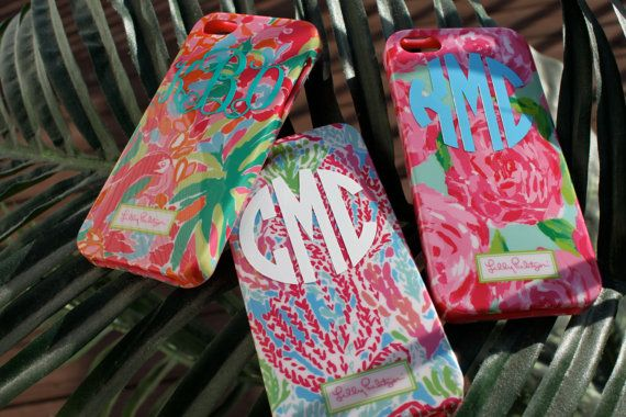 Lilly Pulitzer Monogrammed Phone Cases (Iphone 4/4S or 5/5S) on Etsy, $32.00