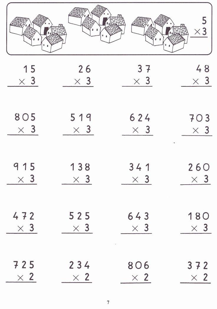 Fichas con ejercicios de multiplicaciones por una cifra para imprimir gratis.