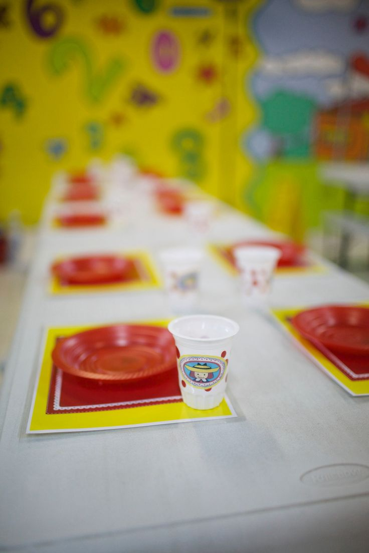 Table set for Madeline birthday party theme
