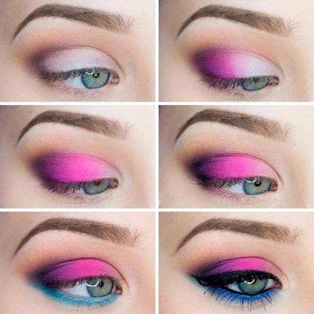 Bright color for eye makeup idea step by step Beauty & Personal Care http://amzn.to/2kaLGnP