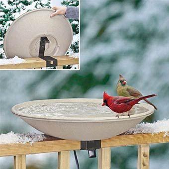 426deck mounted heated bird bath
