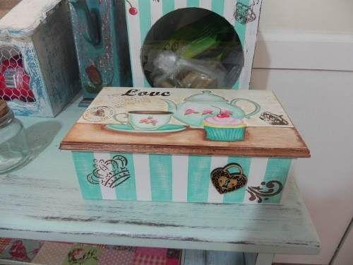 Caja De Té Vintage Shabby Chic - $ 160,00