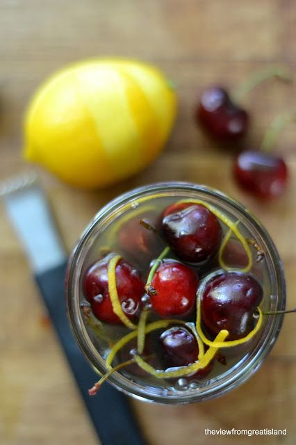 It's 5 O'Clock Somewhere Friday: Limoncello Cocktail Cherries - The View from Great Island