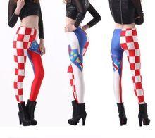 Hot new style Legging for women Galaxy Digital Printing Flag of Croatia Harajuku elastic leggings stretch pants XL WYC053-3202(China (Mainland))